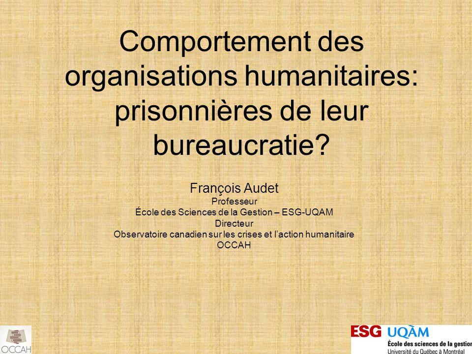Comportement des organisations humanitaires: prisonnières de leur bureaucratie