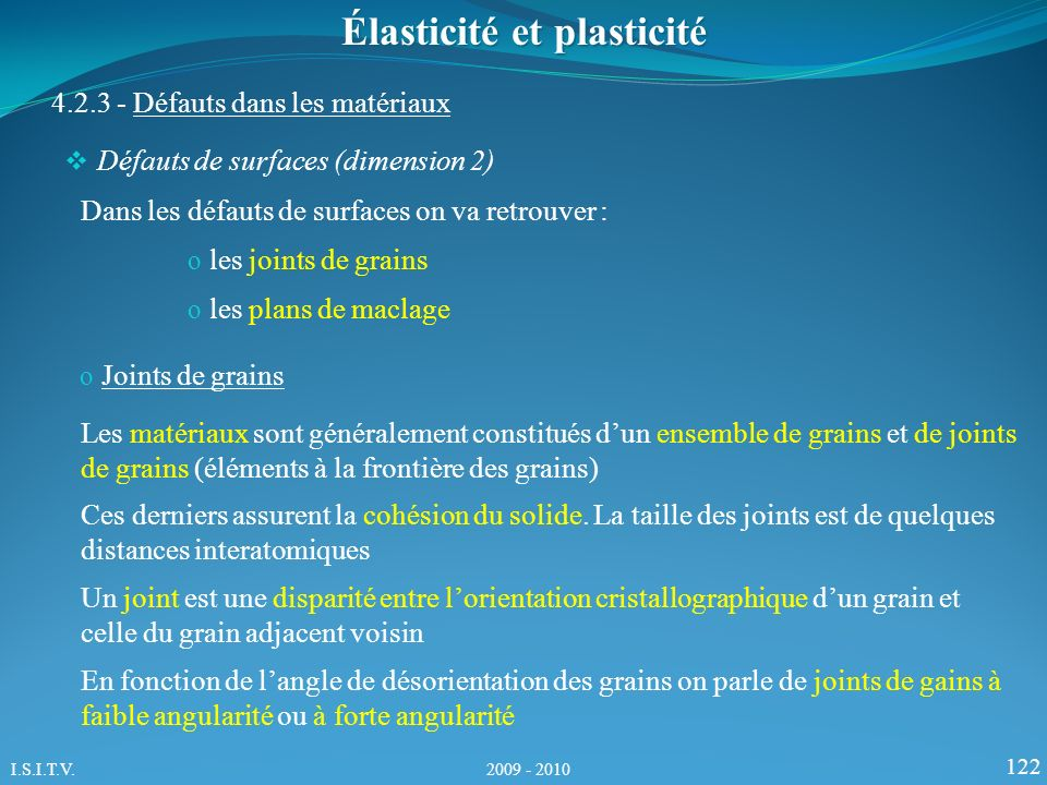 Élasticité et plasticité