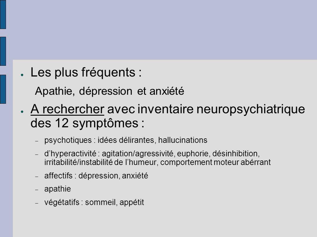 A rechercher avec inventaire neuropsychiatrique des 12 symptômes :