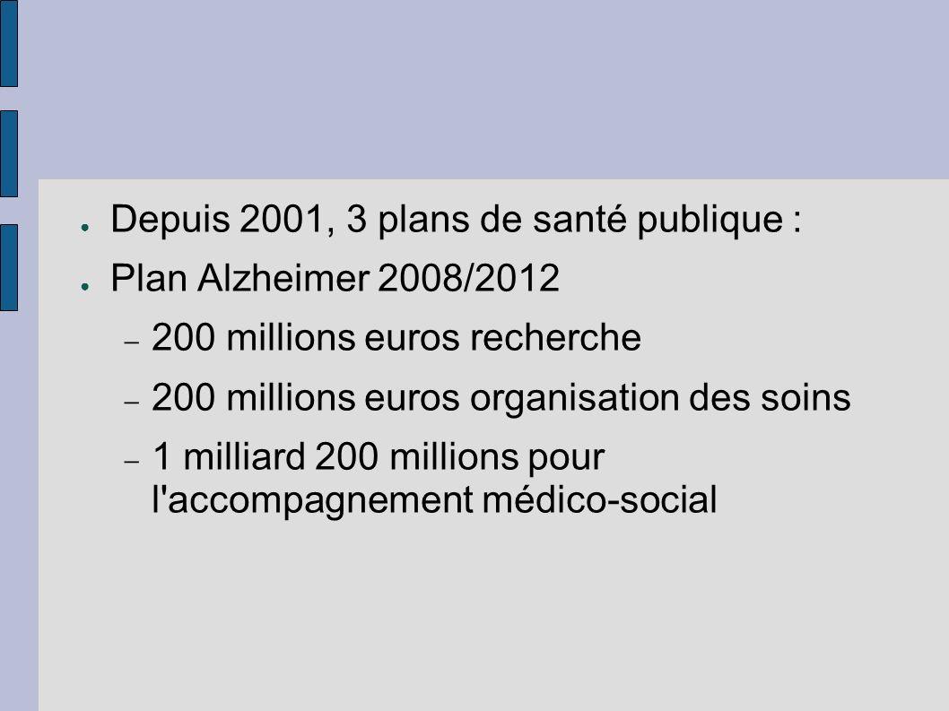 Depuis 2001, 3 plans de santé publique :