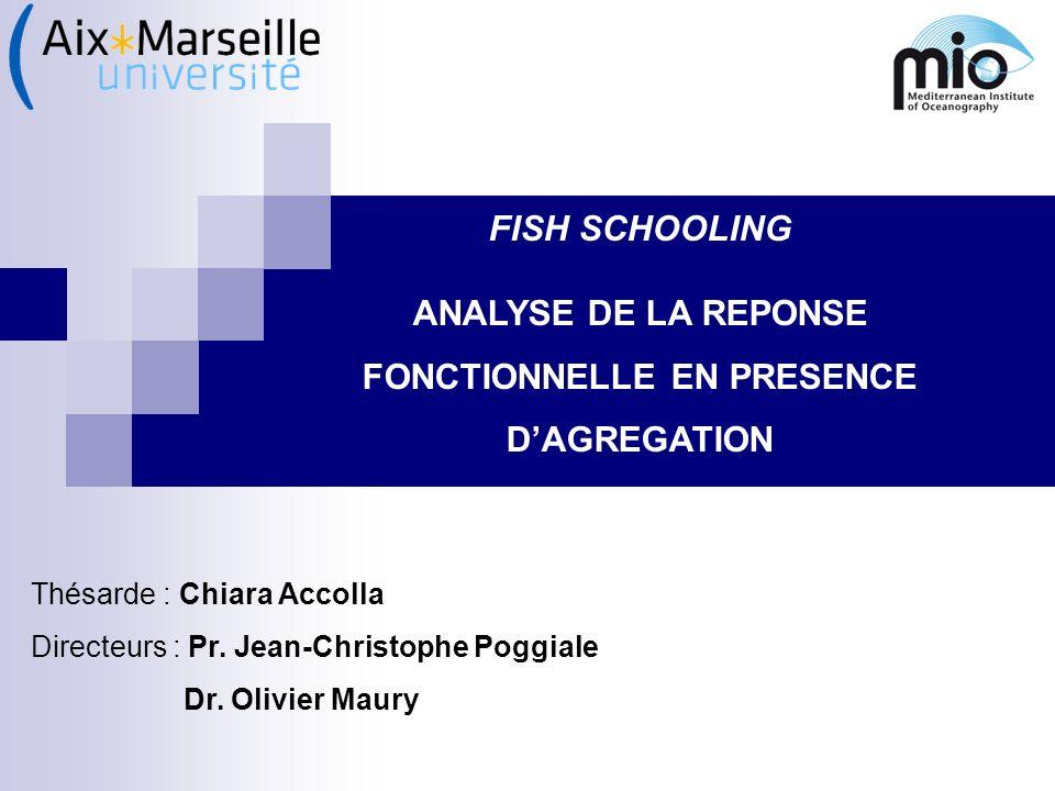 ANALYSE DE LA REPONSE FONCTIONNELLE EN PRESENCE D'AGREGATION
