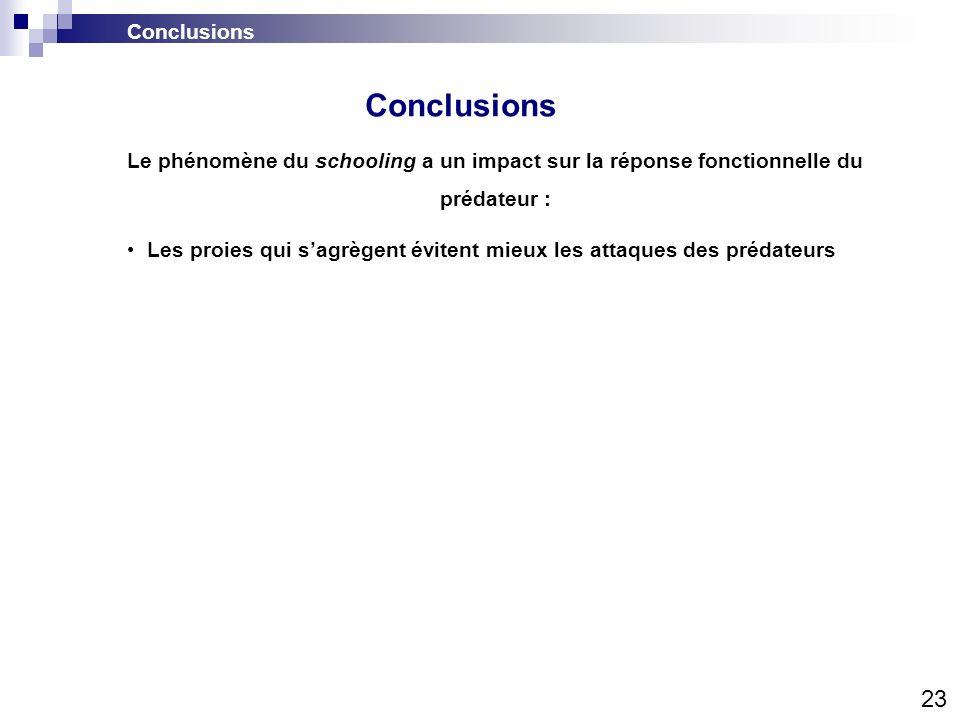 Conclusions 23 Conclusions