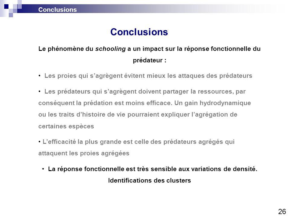 Conclusions 26 Conclusions