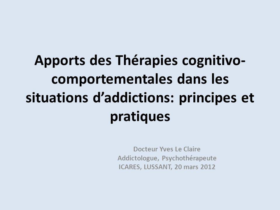 Addictologue, Psychothérapeute