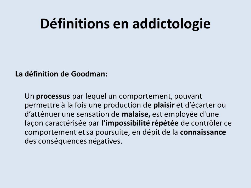 Définitions en addictologie