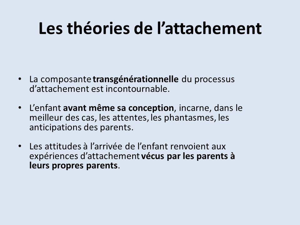 Les théories de l'attachement