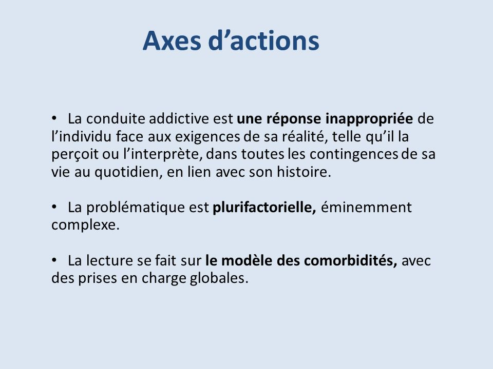 Axes d'actions
