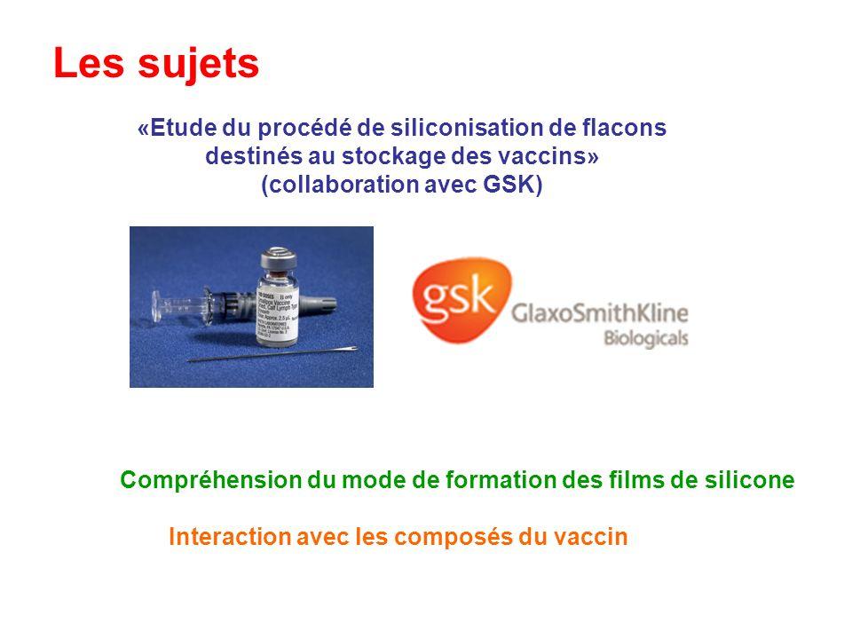 Les sujets «Etude du procédé de siliconisation de flacons
