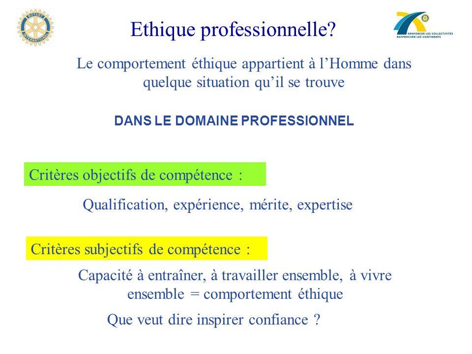 Ethique professionnelle