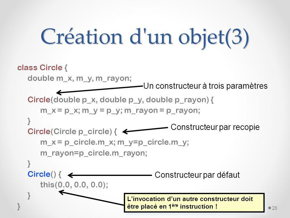 Création d un objet(3)