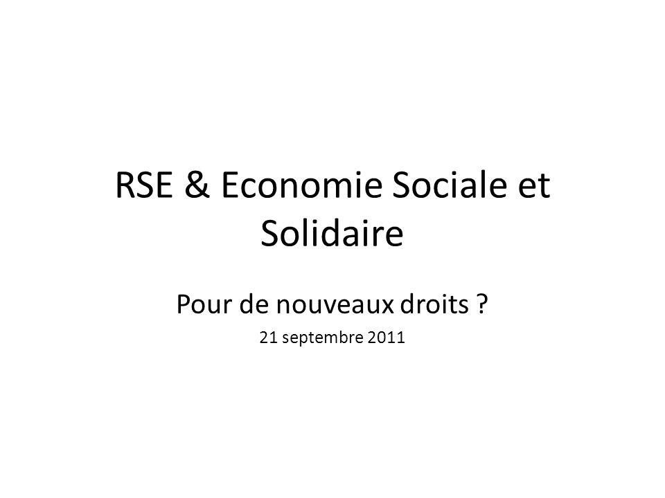 RSE & Economie Sociale et Solidaire