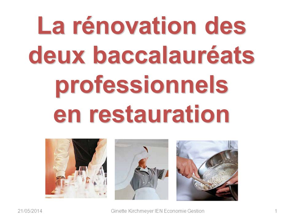 La rénovation des deux baccalauréats professionnels