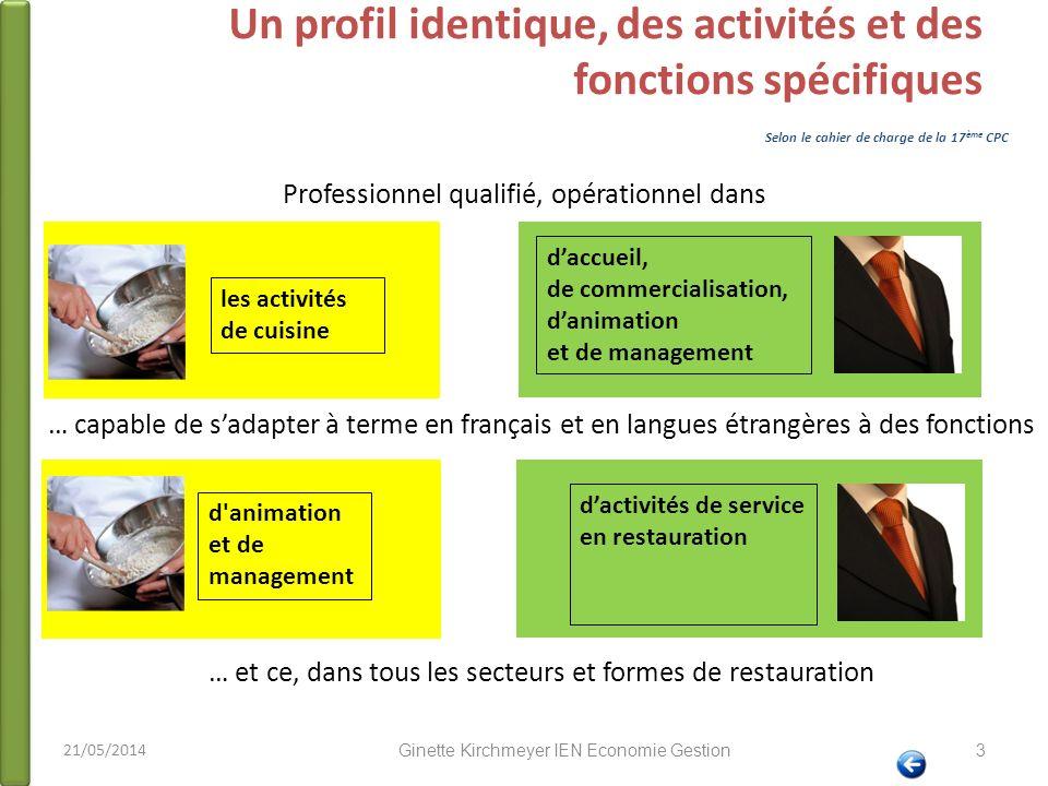 Un profil identique, des activités et des fonctions spécifiques