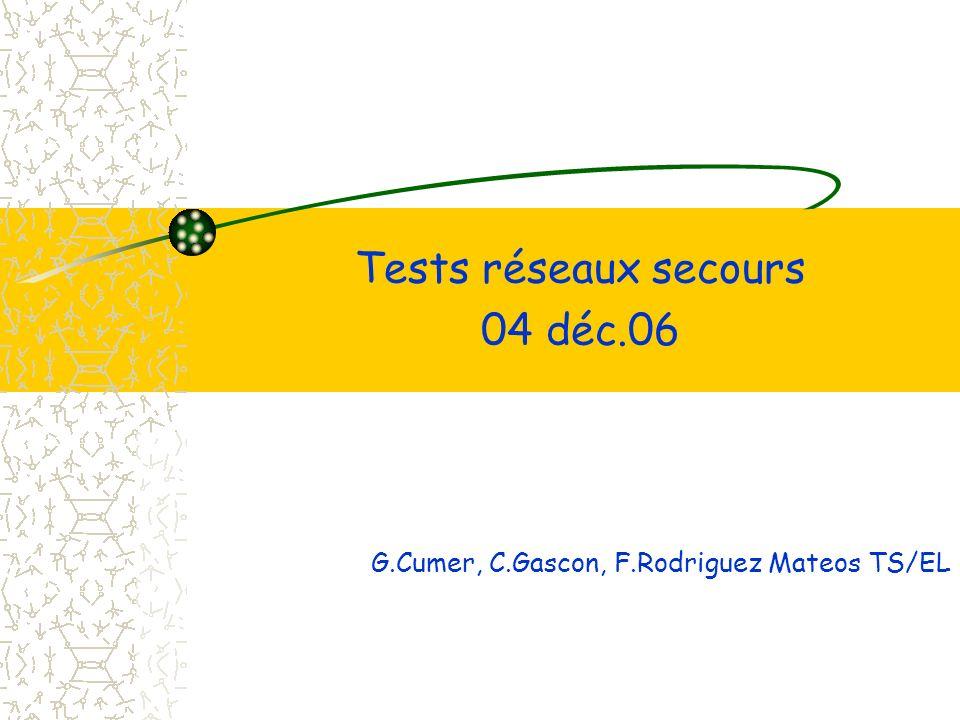 Tests réseaux secours 04 déc.06