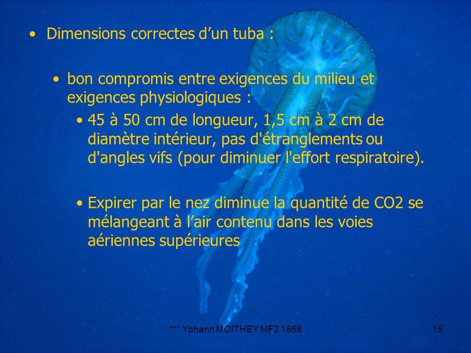 Dimensions correctes d'un tuba :