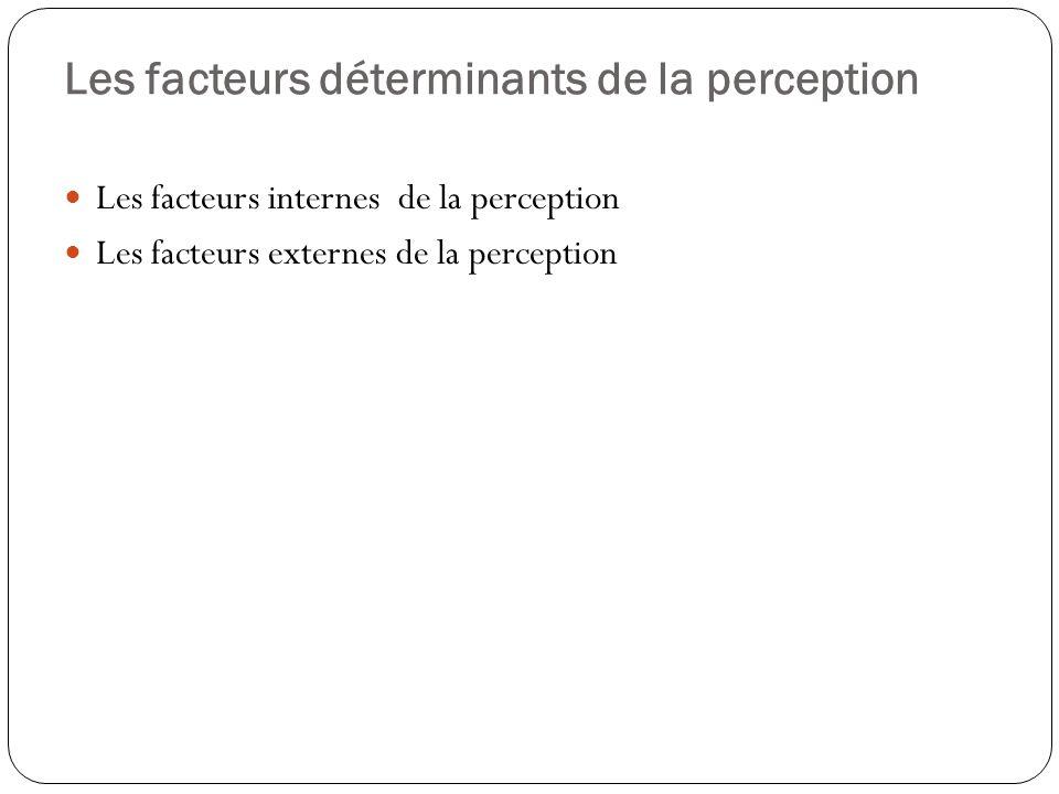 Les facteurs déterminants de la perception