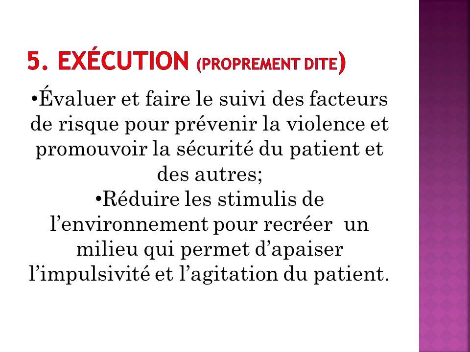 5. Exécution (proprement dite)