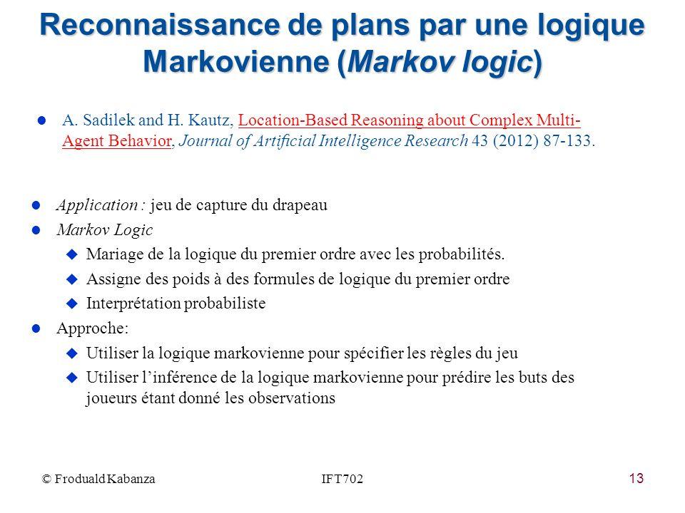 Reconnaissance de plans par une logique Markovienne (Markov logic)