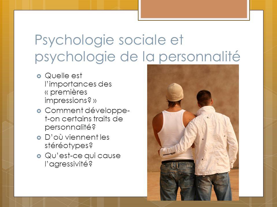 Psychologie sociale et psychologie de la personnalité