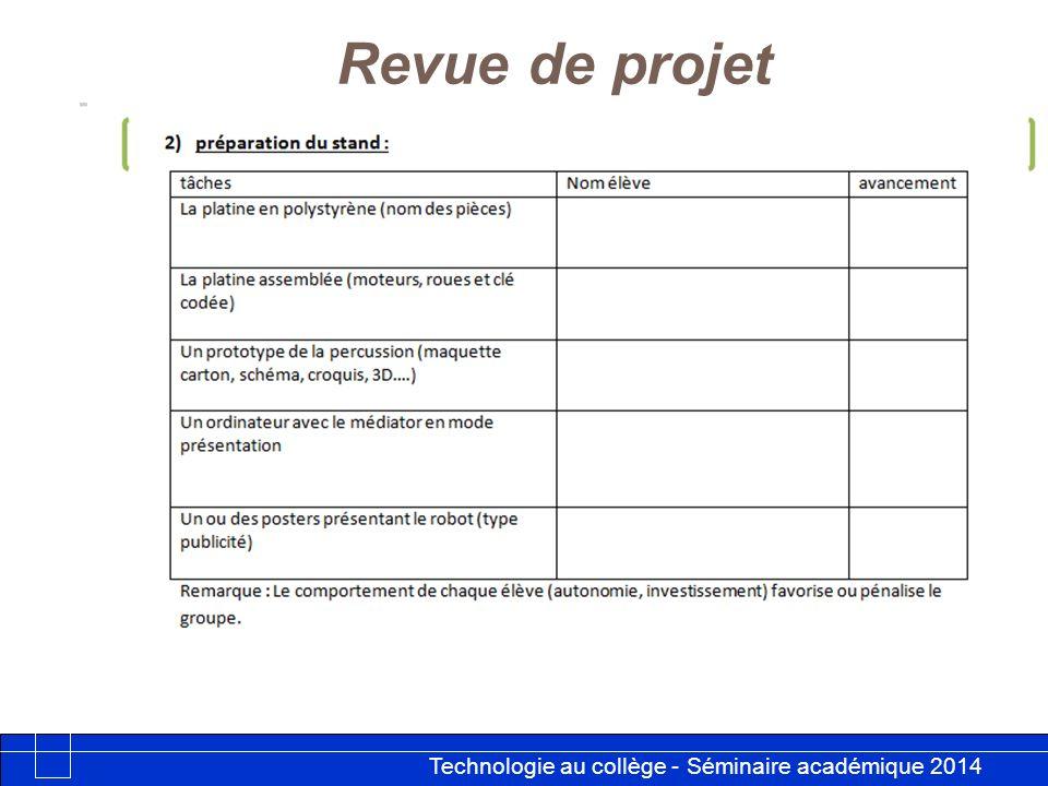 Revue de projet 16