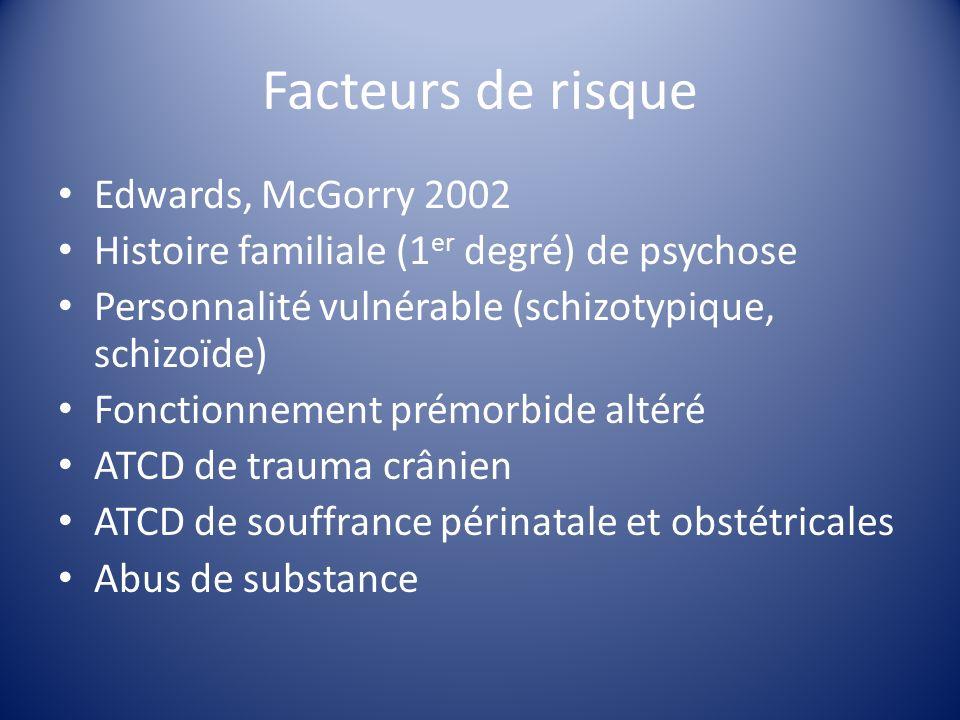 Facteurs de risque Edwards, McGorry 2002