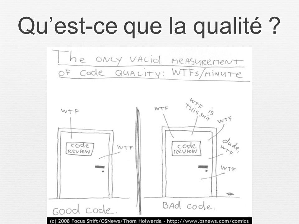 Qu'est-ce que la qualité