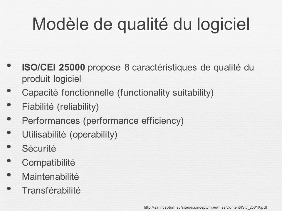 Modèle de qualité du logiciel