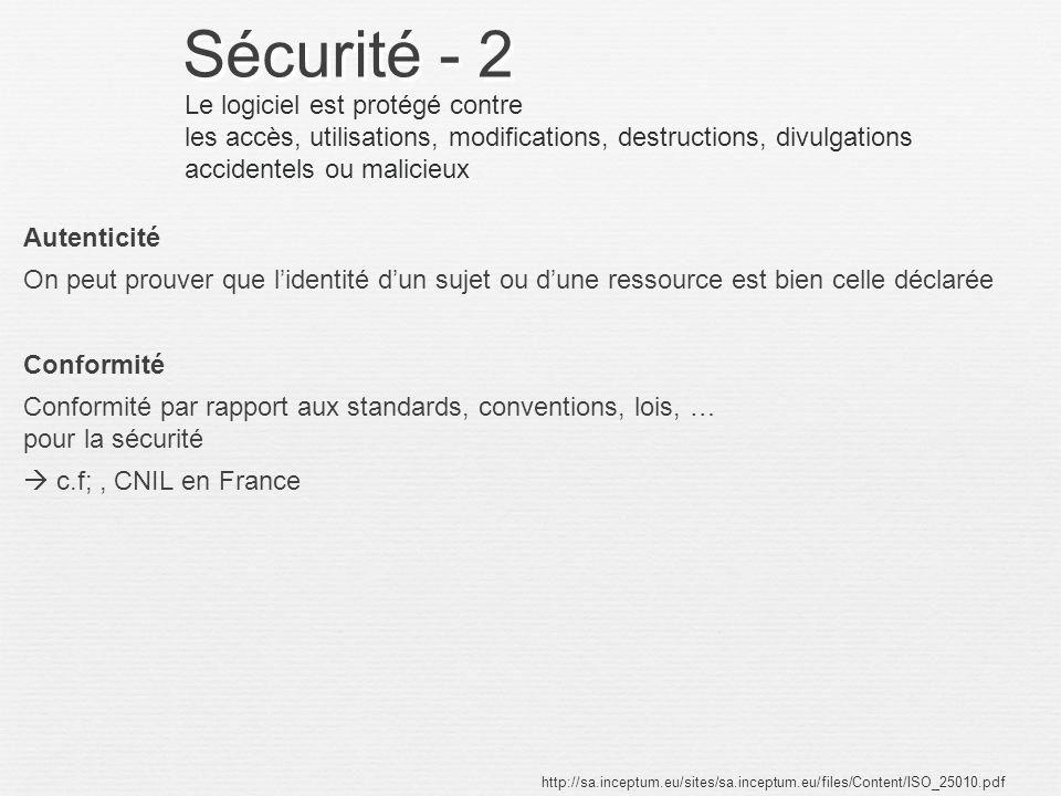 Sécurité - 2 Le logiciel est protégé contre
