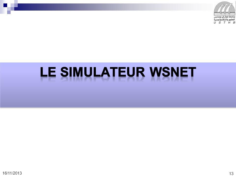 Le simulateur WSNet