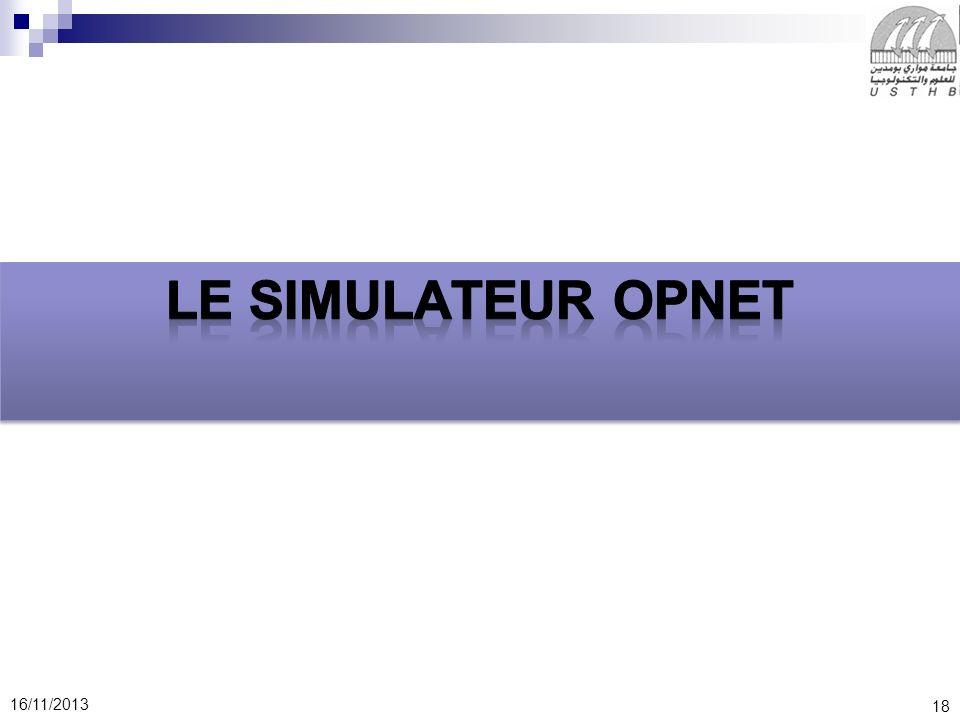 Le simulateur OPNET