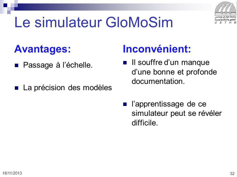 Le simulateur GloMoSim