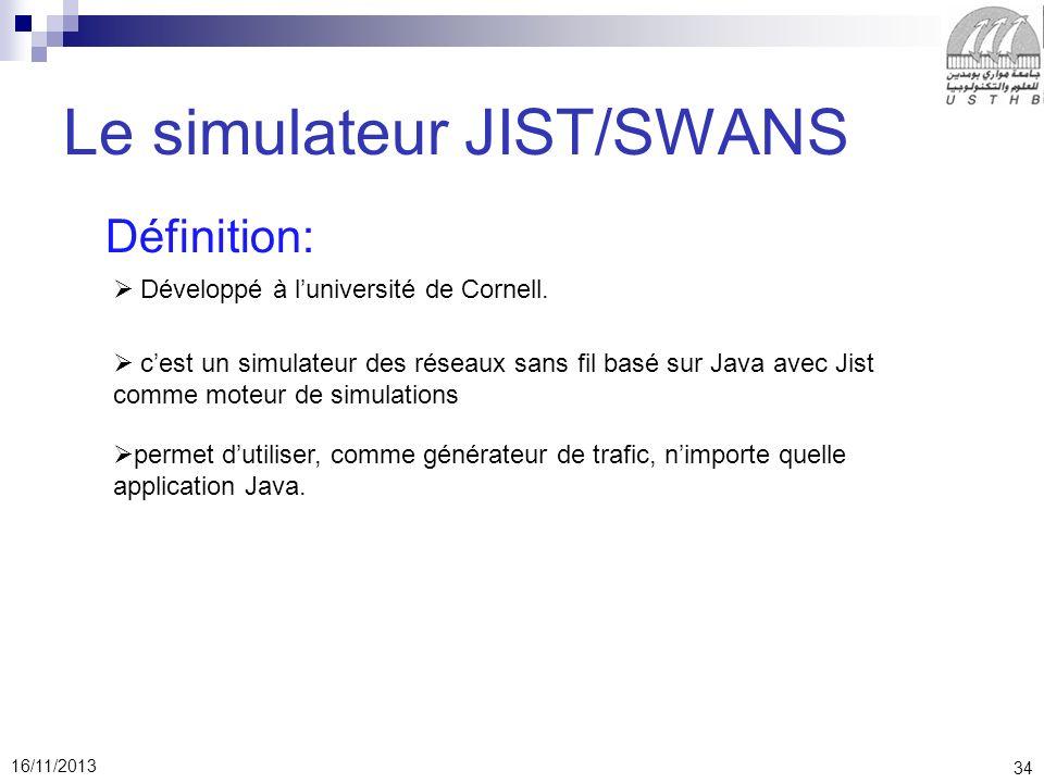 Le simulateur JIST/SWANS