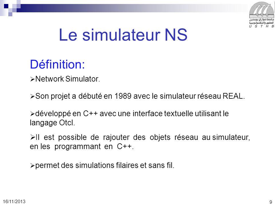 Le simulateur NS Définition:
