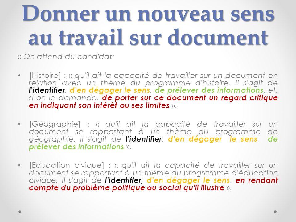 Donner un nouveau sens au travail sur document