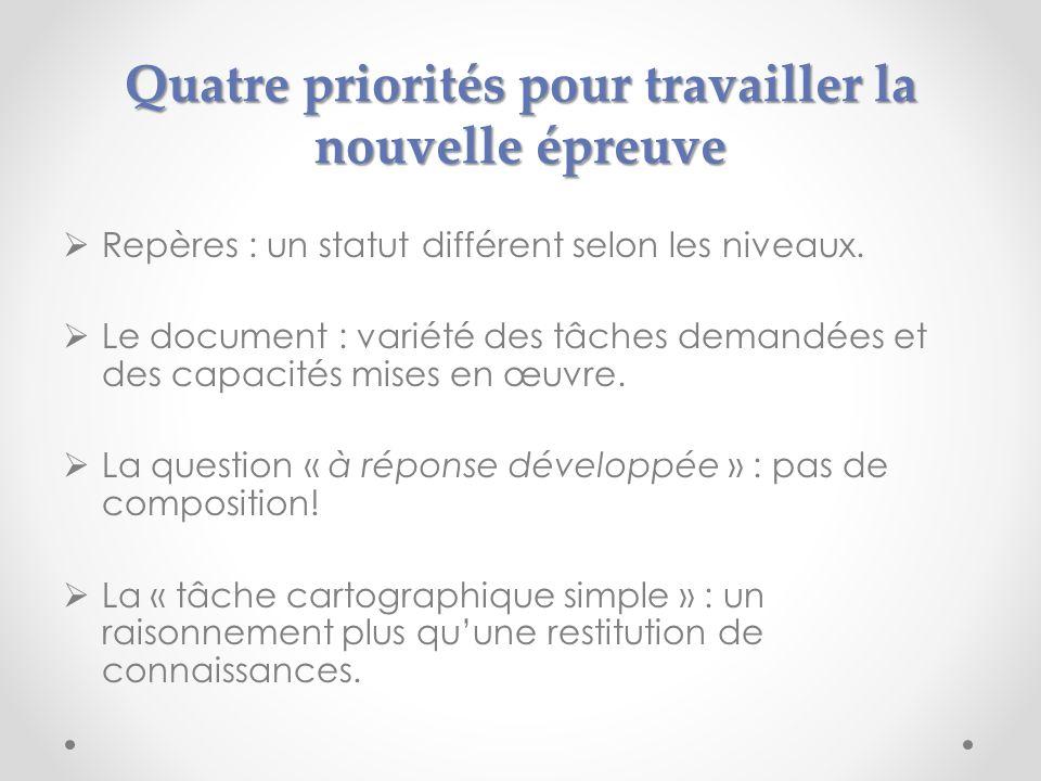 Quatre priorités pour travailler la nouvelle épreuve