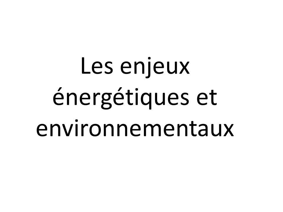 Les enjeux énergétiques et environnementaux