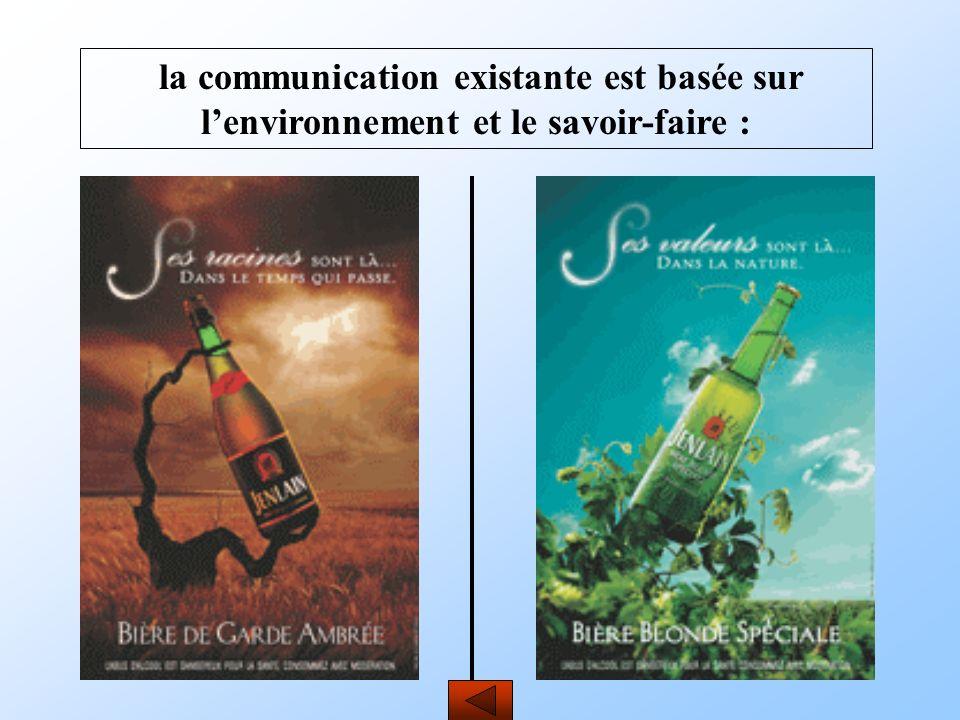 la communication existante est basée sur l'environnement et le savoir-faire :