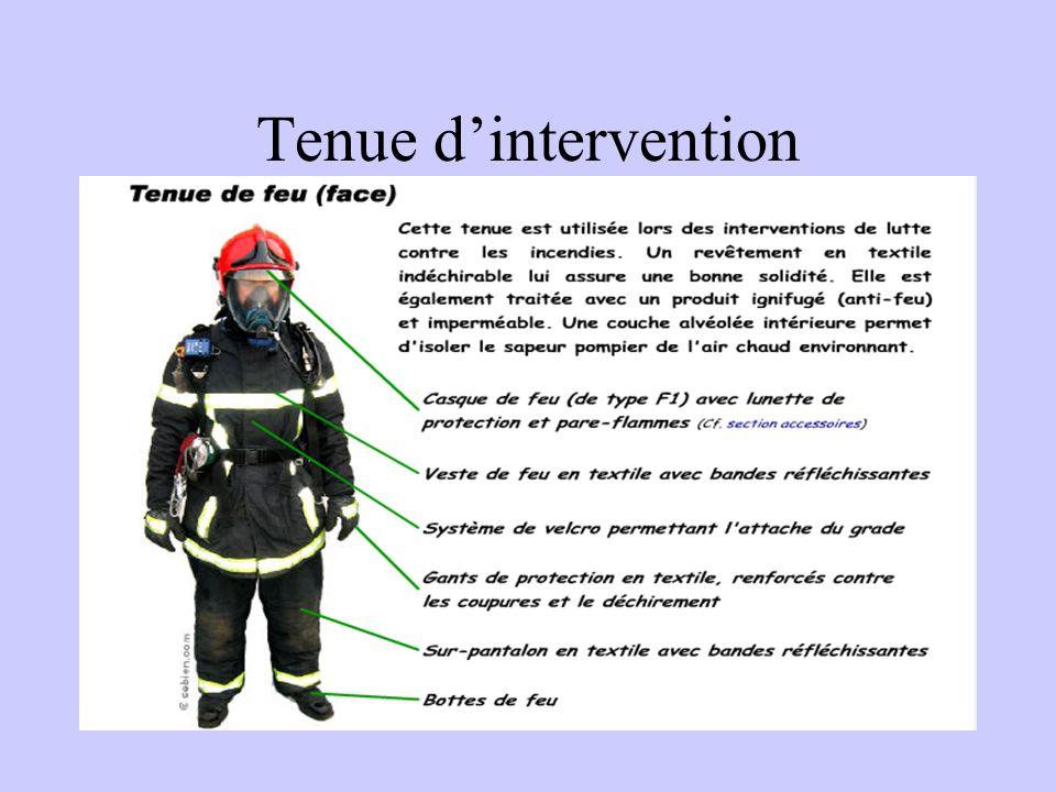 Tenue d'intervention