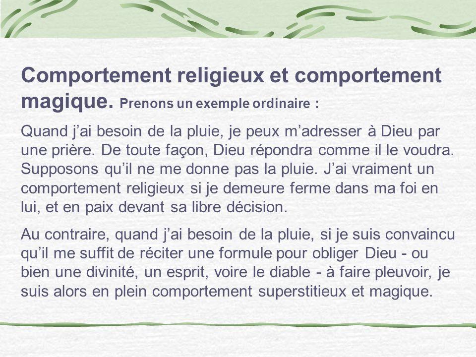 Comportement religieux et comportement magique