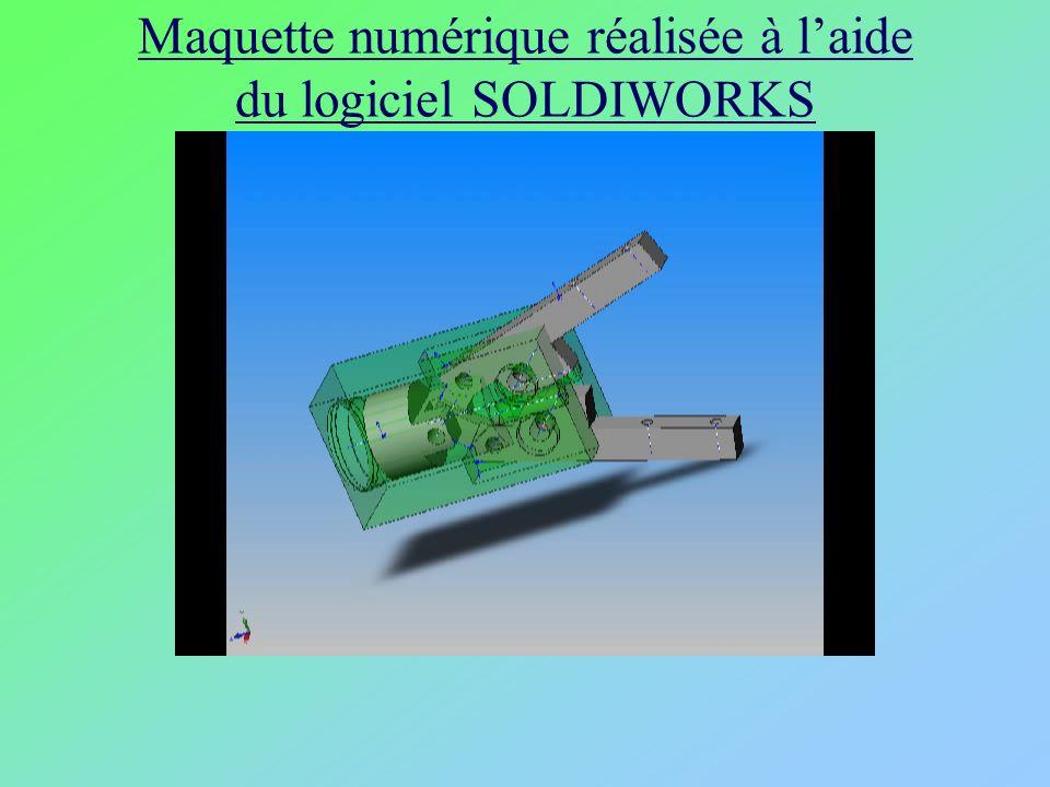 Maquette numérique réalisée à l'aide du logiciel SOLDIWORKS