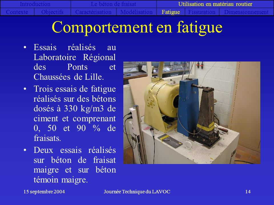 Comportement en fatigue