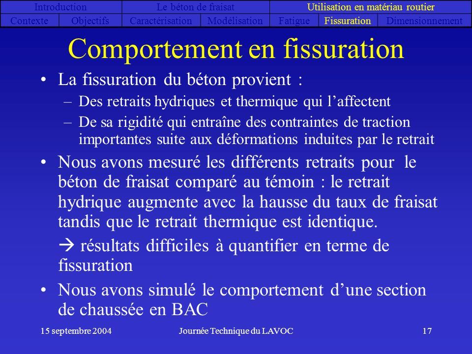 Comportement en fissuration