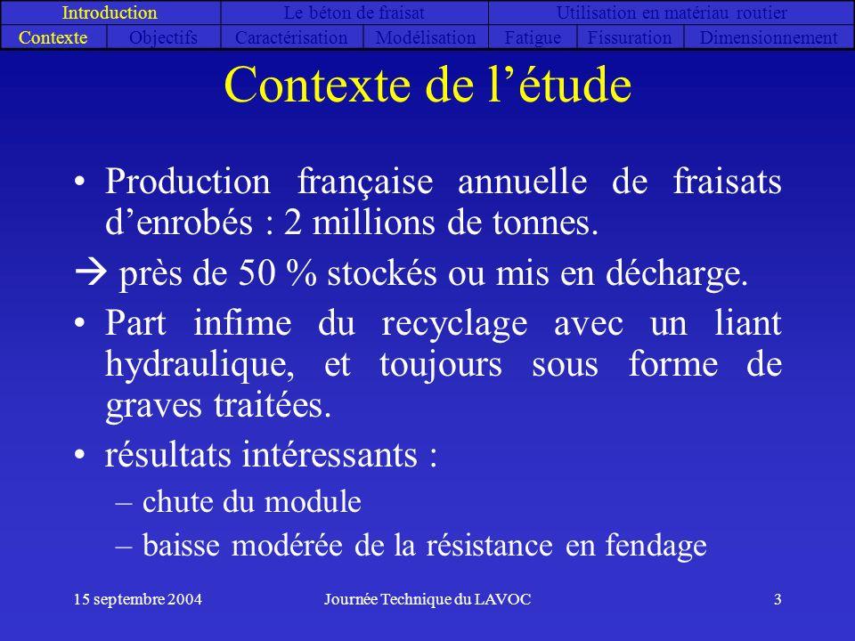 partie 1 Introduction. Le béton de fraisat. Utilisation en matériau routier. Contexte. Objectifs.