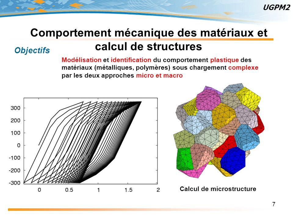 Comportement mécanique des matériaux et calcul de structures