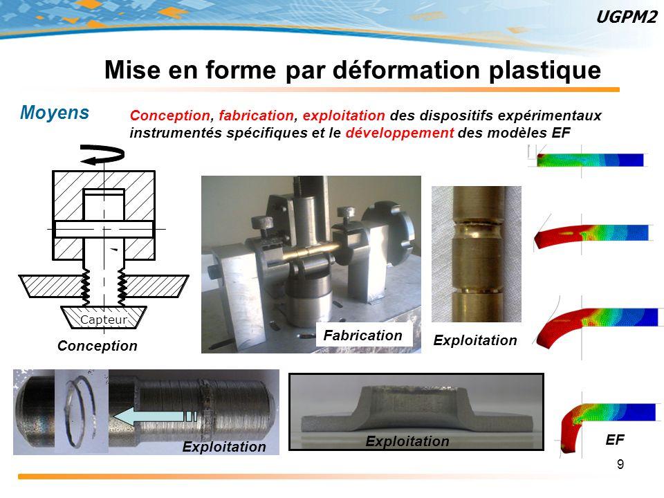 Mise en forme par déformation plastique