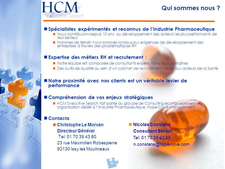 Qui sommes nous Spécialistes expérimentés et reconnus de l'Industrie Pharmaceutique.