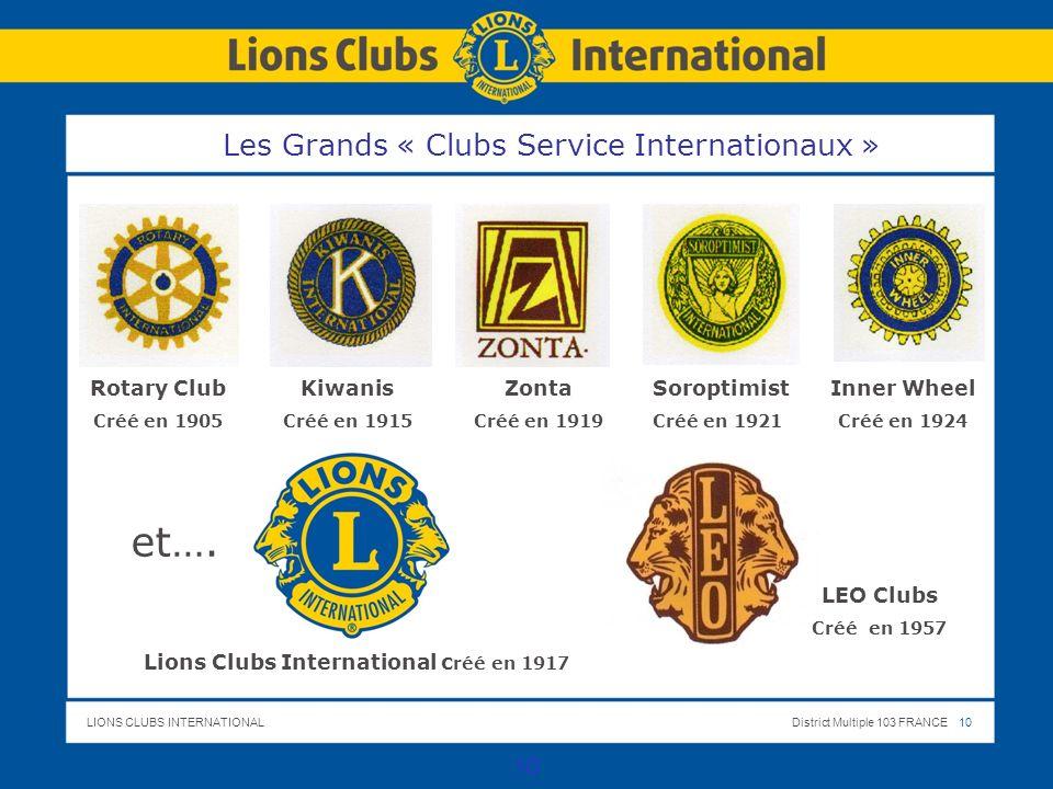Les Grands « Clubs Service Internationaux »