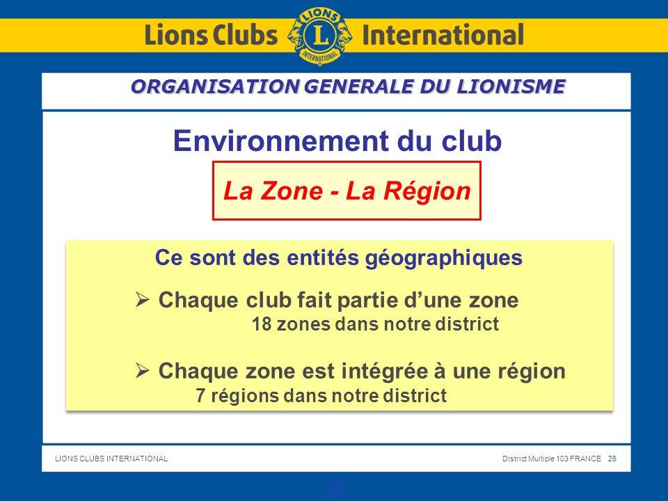 Ce sont des entités géographiques 18 zones dans notre district