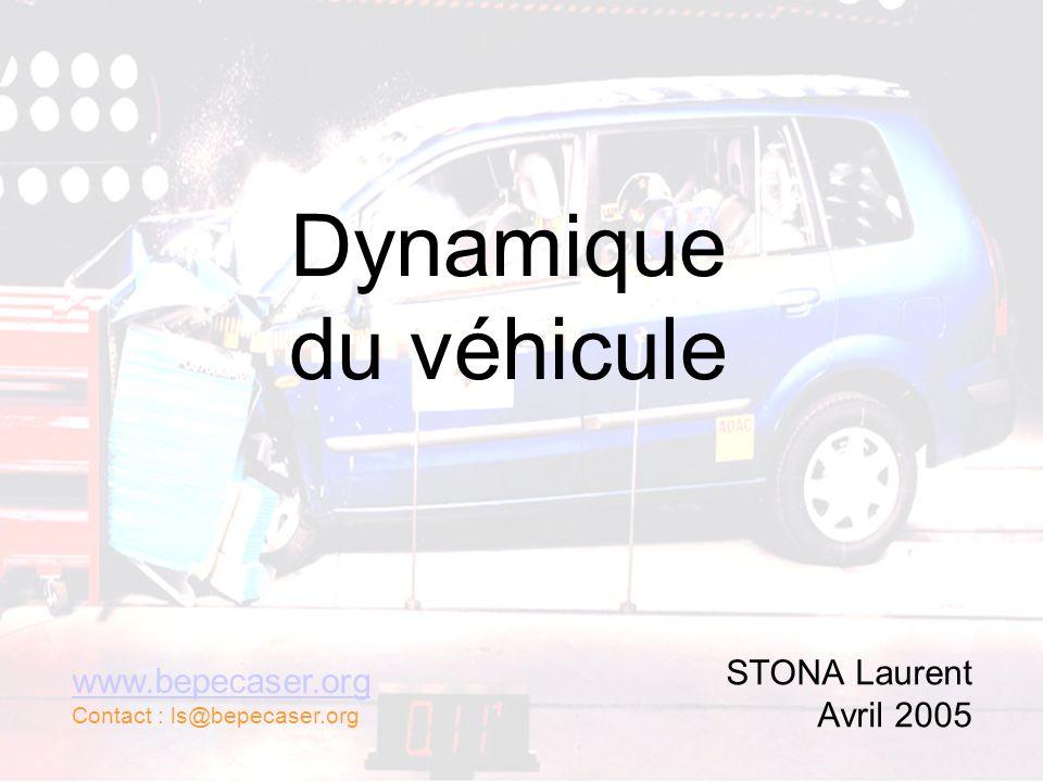 Dynamique du véhicule STONA Laurent Avril 2005