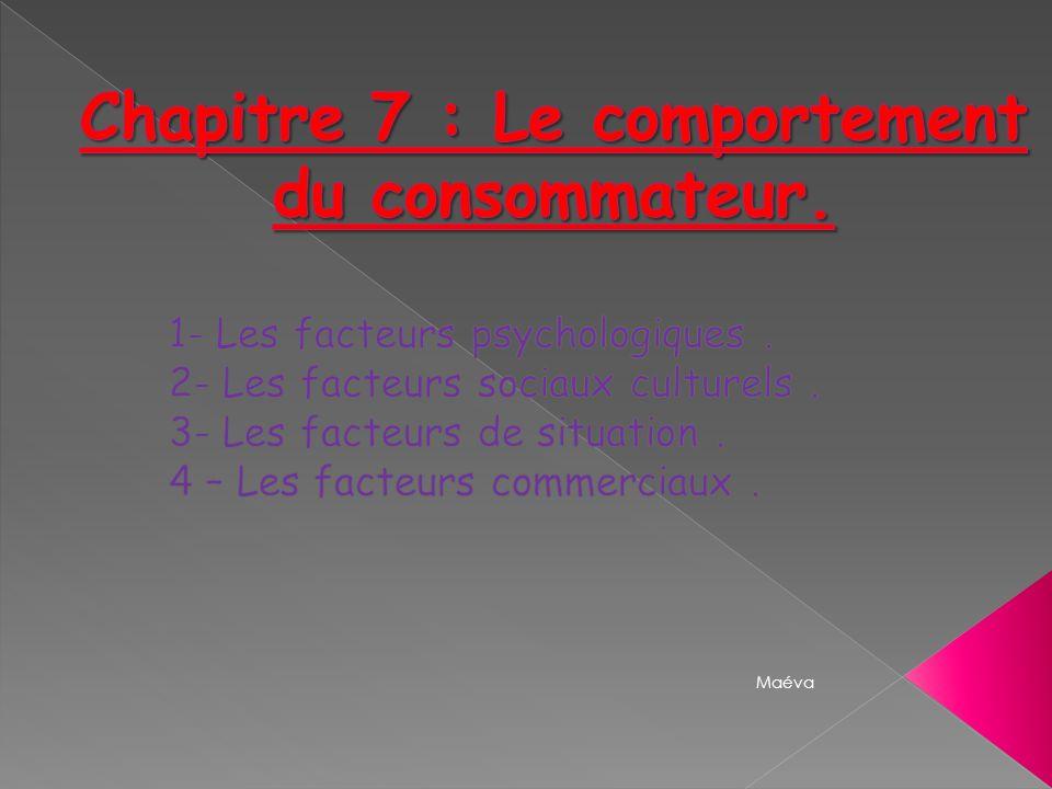 Chapitre 7 : Le comportement du consommateur.